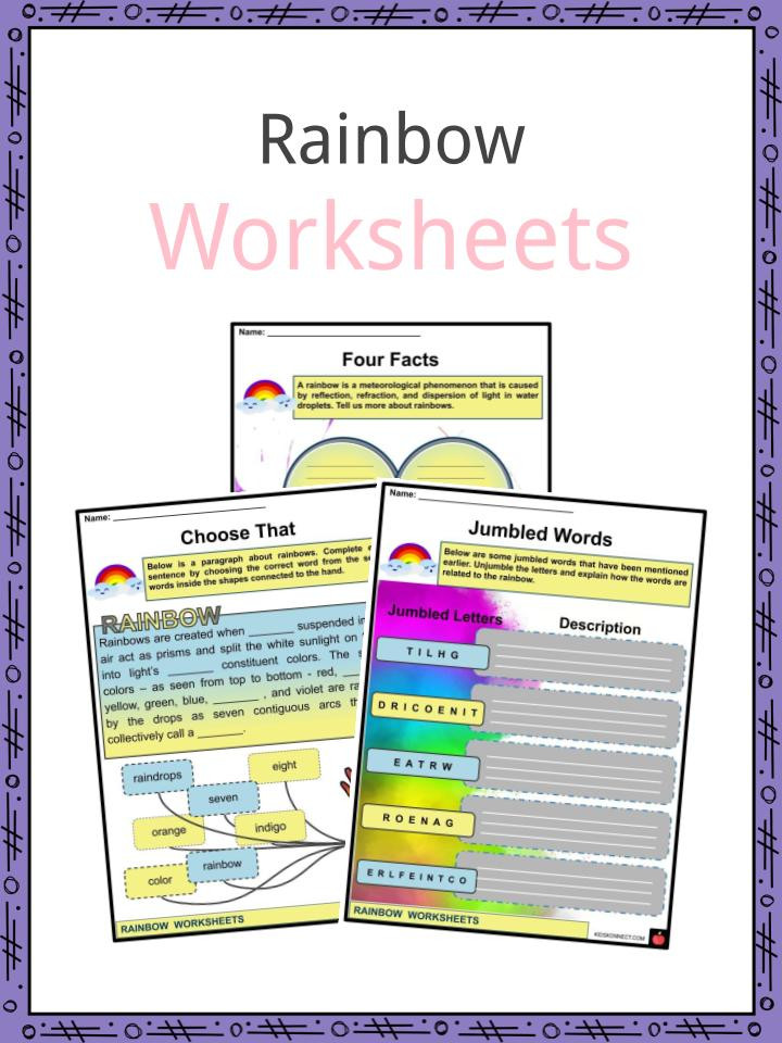 Rainbow Worksheets for Kindergarten Rainbow Facts Worksheets formation & Overview for Kids