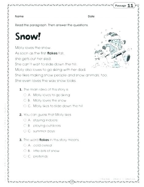 Reading Comprehension 7th Grade Worksheet Free 7th Grade Science Worksheets Keepyourheadup Reading