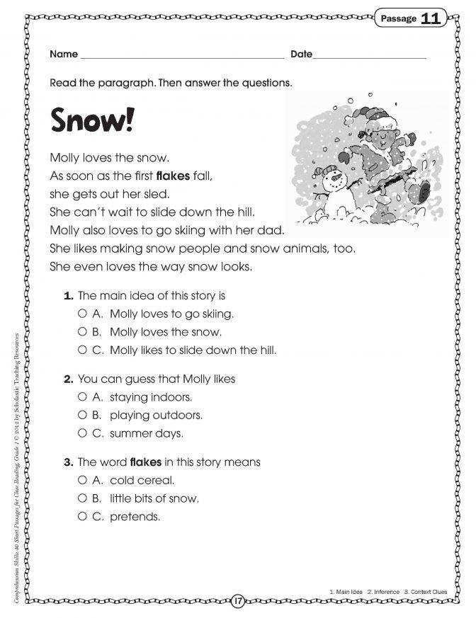 Reading Comprehension 7th Grade Worksheet Printable Worksheets for Teaching Synonyms and Antonyms