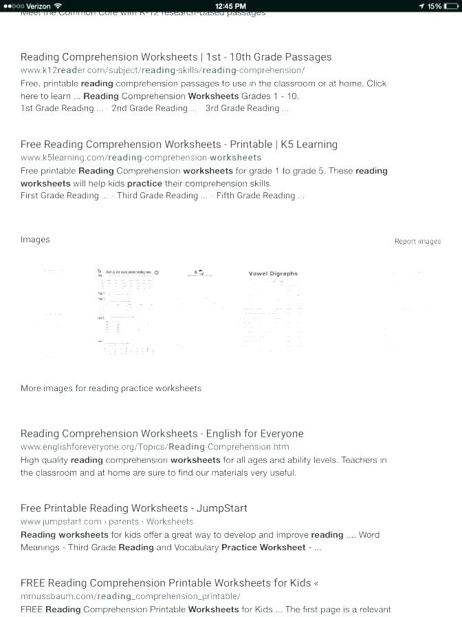 Reading Worksheets Grade 5 1st Grade Reading Prehension Math – Beatricehewub