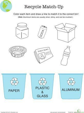 Recycling Worksheets for Kindergarten Recycle Worksheets for Kindergarten Pin Printable
