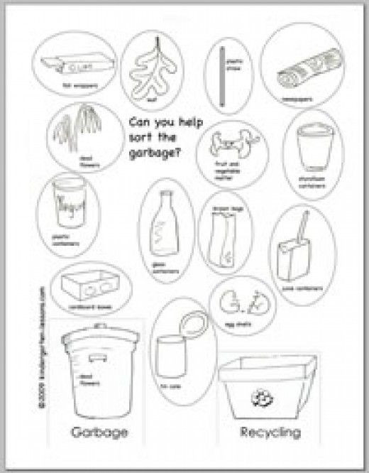 Recycling Worksheets for Kindergarten Recycling Worksheets for Kids