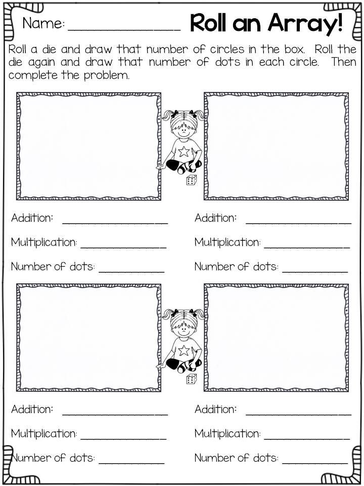 Repeated Addition Worksheets 2nd Grade Arrays Worksheets 2nd Grade