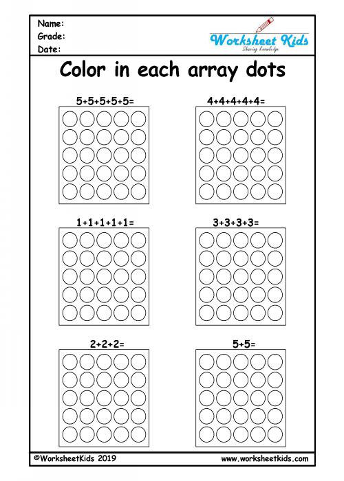 Repeated Addition Worksheets 2nd Grade Repeated Addition Arrays Activities for Year 1 2 3 Worksheets