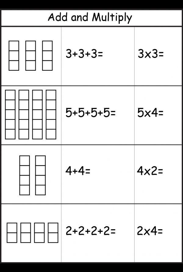 Repeated Addition Worksheets 2nd Grade Repeated Addition Worksheets
