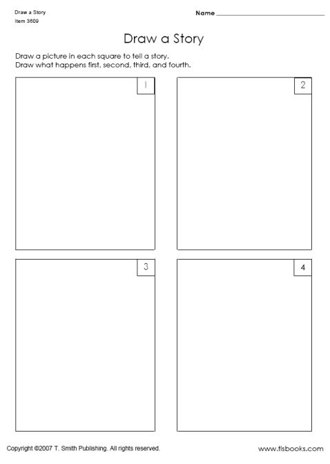 Retell Worksheet First Grade Draw A Story In Sequence Worksheets