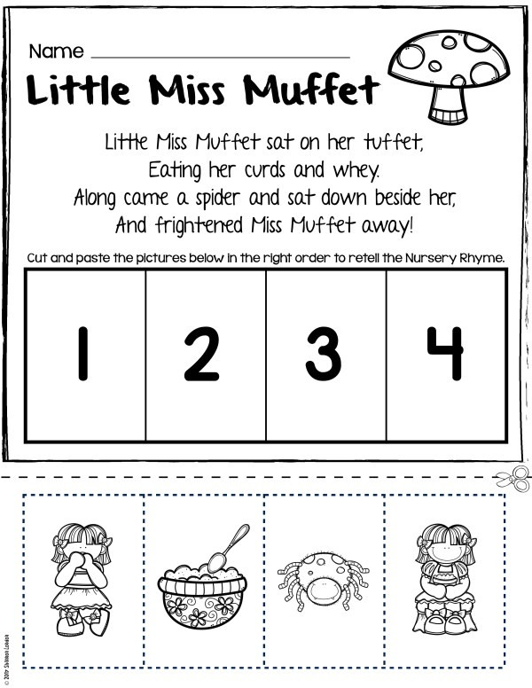 Retell Worksheet First Grade Nursery Rhymes Worksheets for Story Retelling Practice