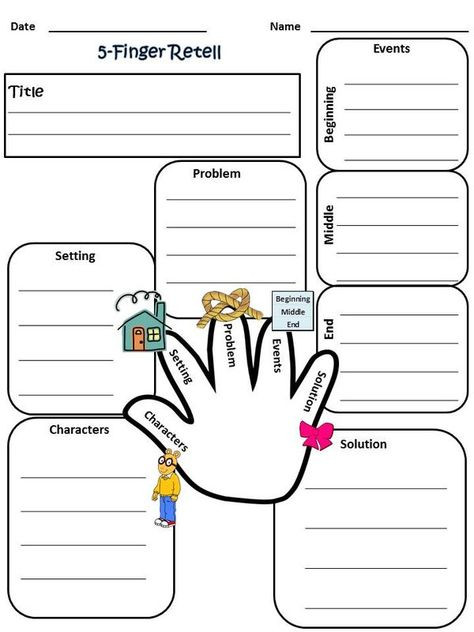 Retell Worksheet First Grade Pin by Meredith Sanders On for the Classroom
