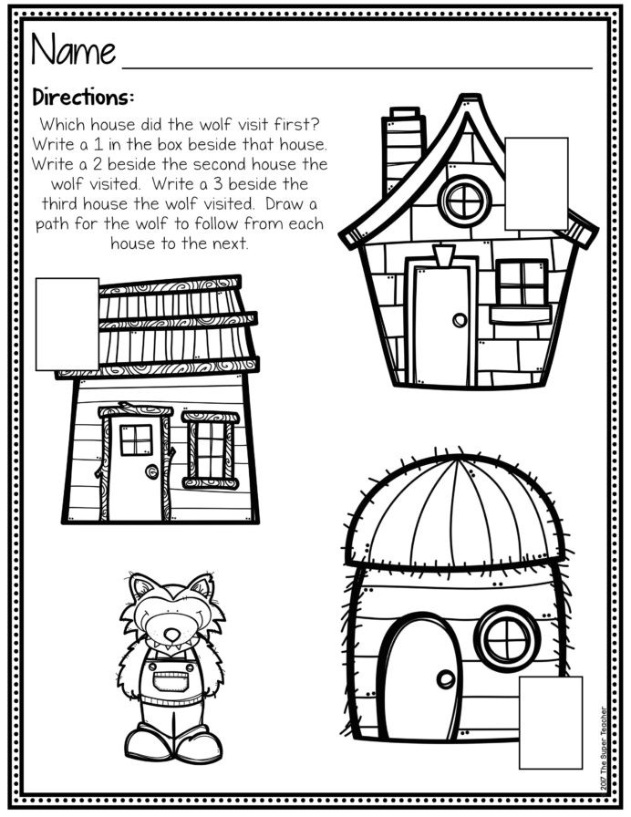 Retell Worksheet First Grade Three Little Pigs Elements and Retelling Worksheets First
