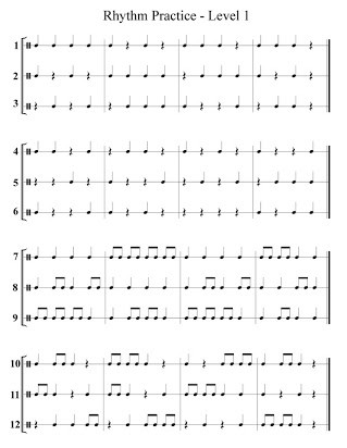Rhythm Math Worksheet Free Printable Rhythm Sheets