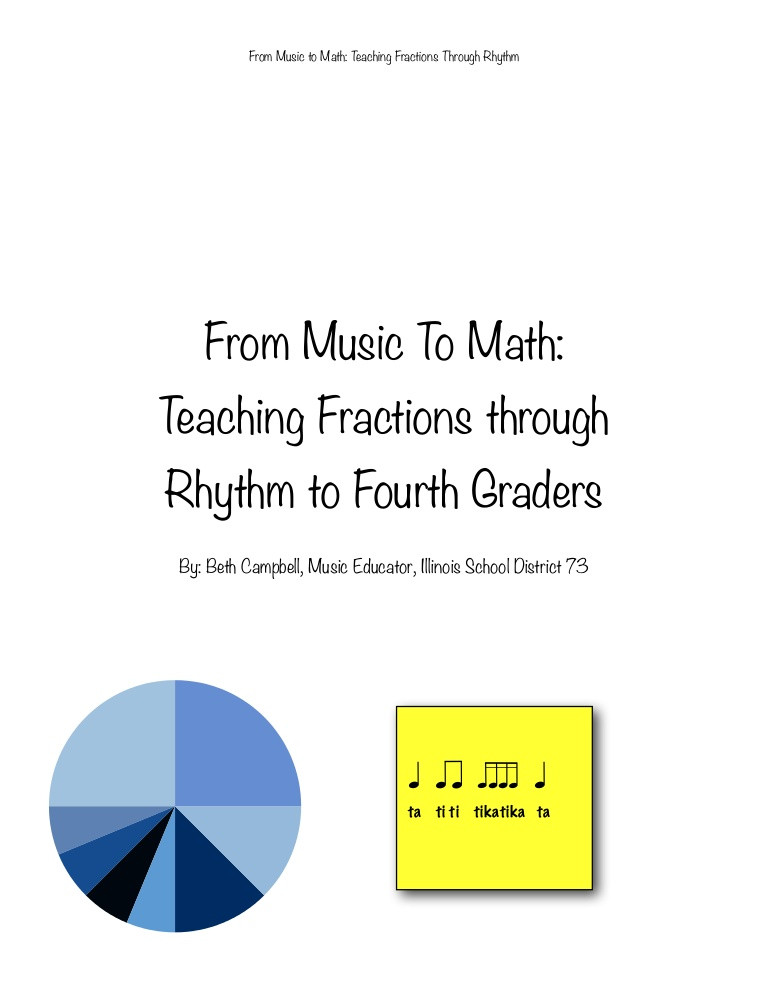 Rhythm Math Worksheet From Music to Math Teaching Fractions Through Rhythm to