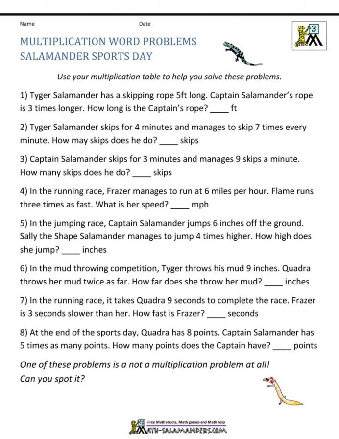Salamander Math Worksheet Worksheet Creator Division Printable Worksheets and
