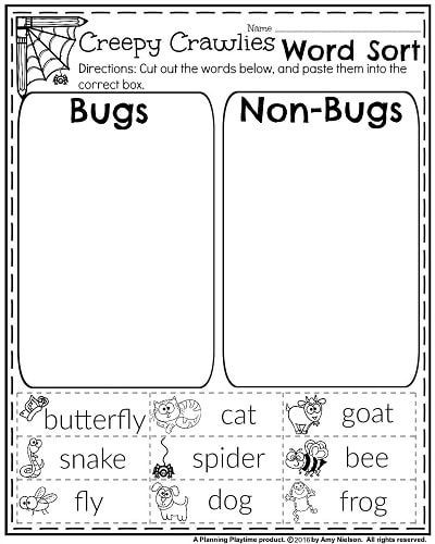Science Worksheet First Grade October First Grade Worksheets