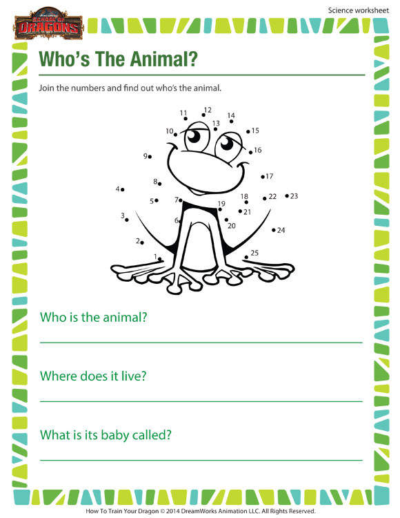 Science Worksheet First Grade who S the Animal Printable Worksheet 1st Grade Kids sod