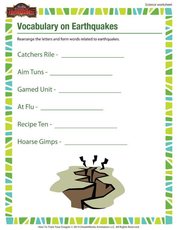 Science Worksheets for 5th Grade Vocabulary On Earthquakes View – Science Worksheet 5th Grade