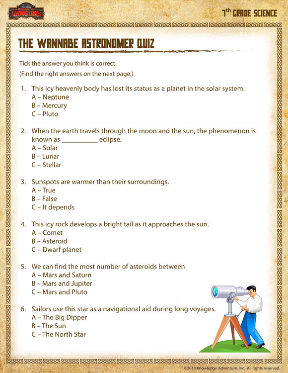 Science Worksheets for 7th Grade 28 [ 7th Grade Science Worksheets ]