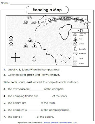 Second Grade Map Skills Worksheets Free Printable Map Skills Worksheets