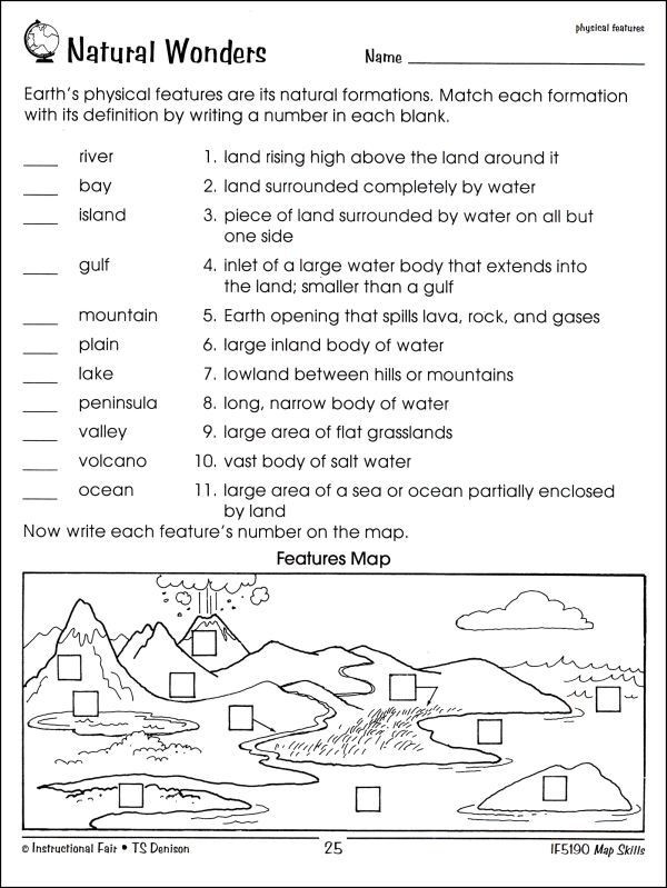 Second Grade Map Skills Worksheets Map Skills 2nd Grade Worksheets In 2020