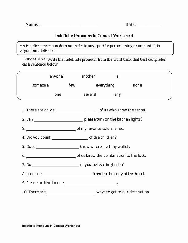 Second Grade Pronouns Worksheet Pin On Editable Grade Worksheet Templates