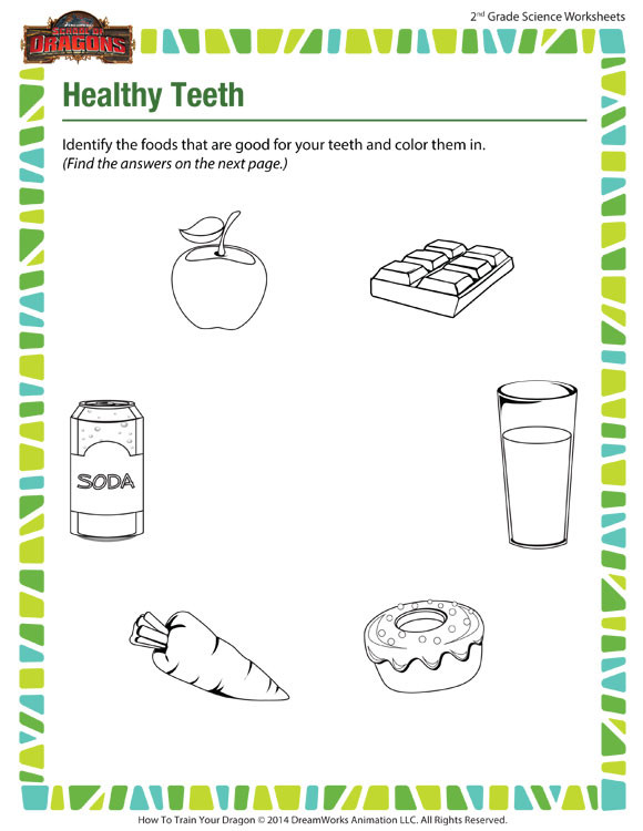 Second Grade Science Worksheets Free Healthy Teeth View – Science Worksheets for 2nd Grade – sod