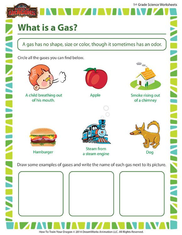 Second Grade Science Worksheets Free What is A Gas Free Fun Science Worksheet for First Grade