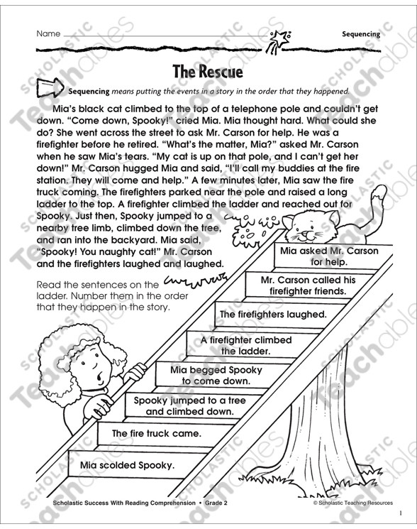 Sequence Worksheets for 3rd Grade Sequencing Grade 3 Collection