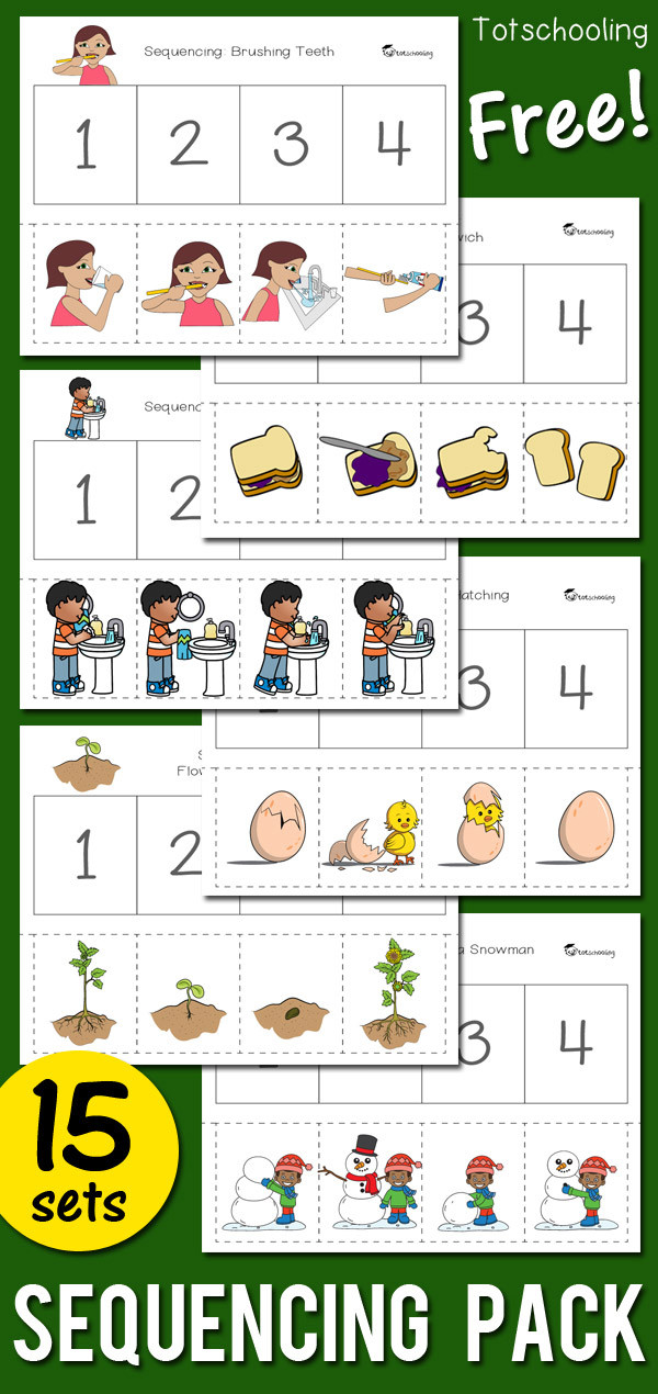 Sequence Worksheets for Kindergarten Sequencing Activity Pack