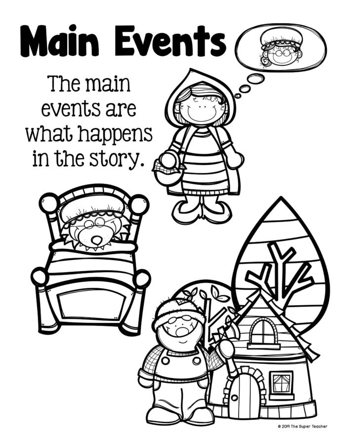 Sequencing events Worksheets Grade 6 Little Red Riding Elements and Retelling Sequencing events