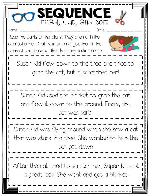 Sequencing events Worksheets Grade 6 Sequence Of events Activity