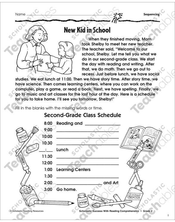Sequencing Worksheets for 2nd Grade Sequencing Grade 2 Collection