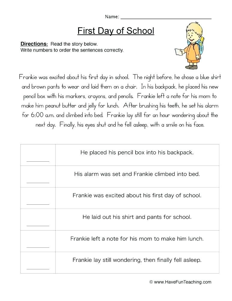 Sequencing Worksheets for 2nd Grade Sequencing Worksheets 2nd Grade Snowman Sequencing Worksheet