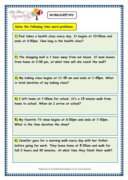 Shopping Math Worksheet Grade Maths Worksheets Time Problems 3rd Math Free Word