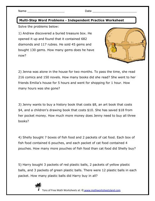 Shopping Math Worksheets Multi Step Word Problems Independent Practice Worksheet Math