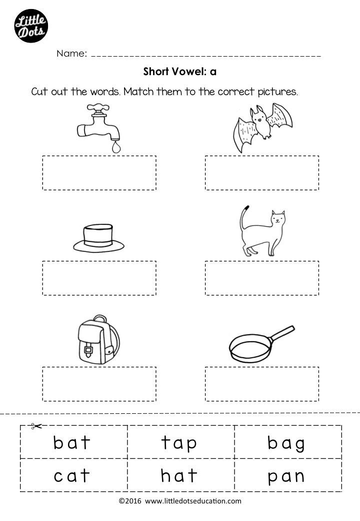 Short Vowel Worksheet Kindergarten Free Phonics Short Vowel A Worksheet for Preschool or