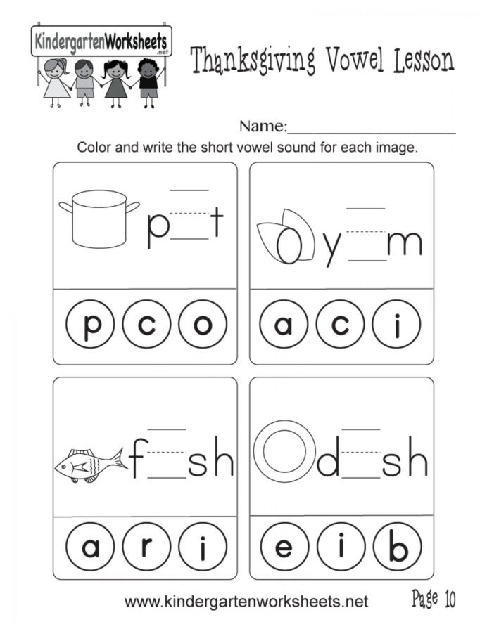 Short Vowel Worksheets 1st Grade and Short Vowel sounds Worksheets Learning Printable