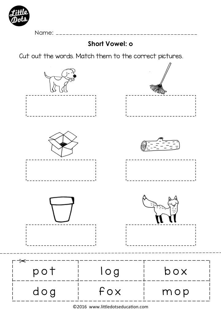 Short Vowel Worksheets 1st Grade Free Short Vowel O Worksheet and Activity for Preschool or
