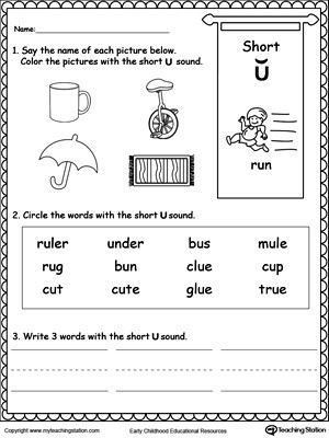 Short Vowel Worksheets 1st Grade Long and Short Vowel sound Worksheets Free