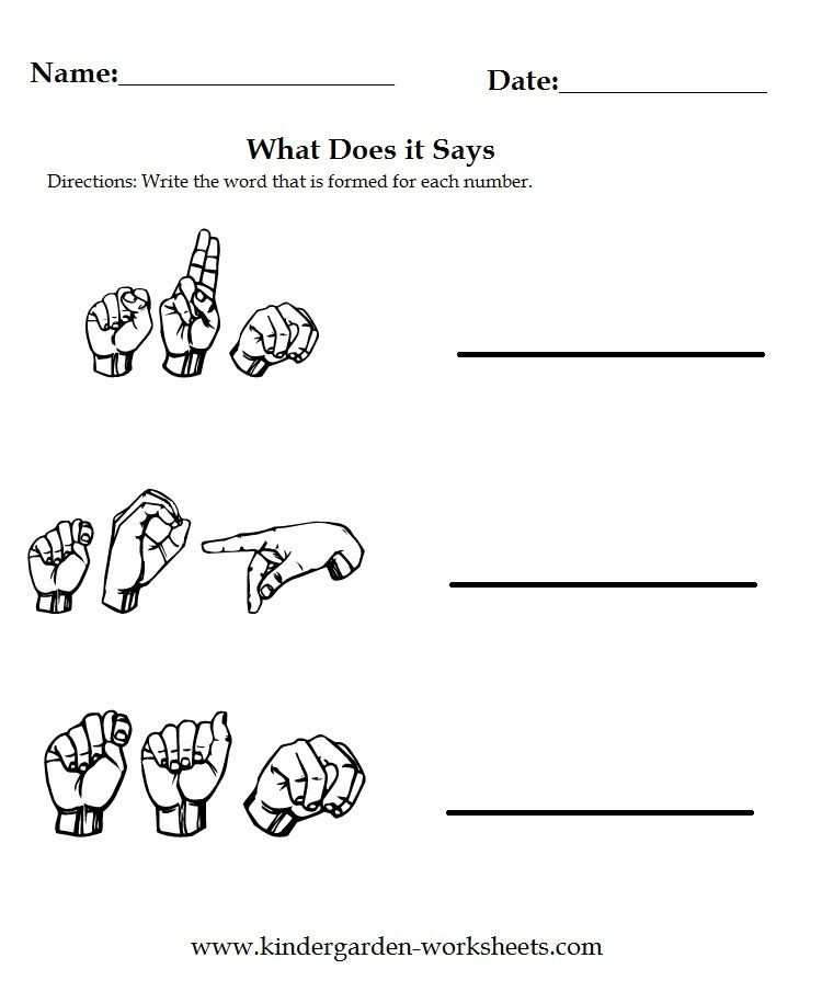 Sign Language Printable Worksheets Worksheets Sign Language