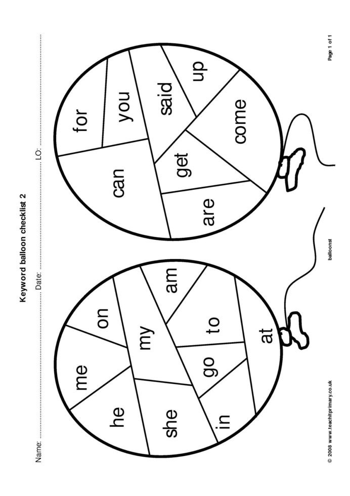 Silent E Worksheets for Kindergarten High Frequency Irregular Words Search Results Teachit
