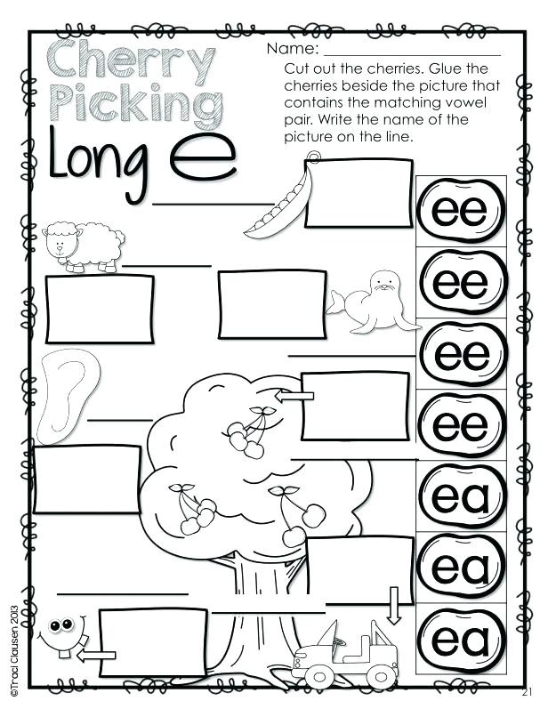 Silent E Worksheets for Kindergarten Word Work Worksheets Oh How they Grow Vowel Practice Long