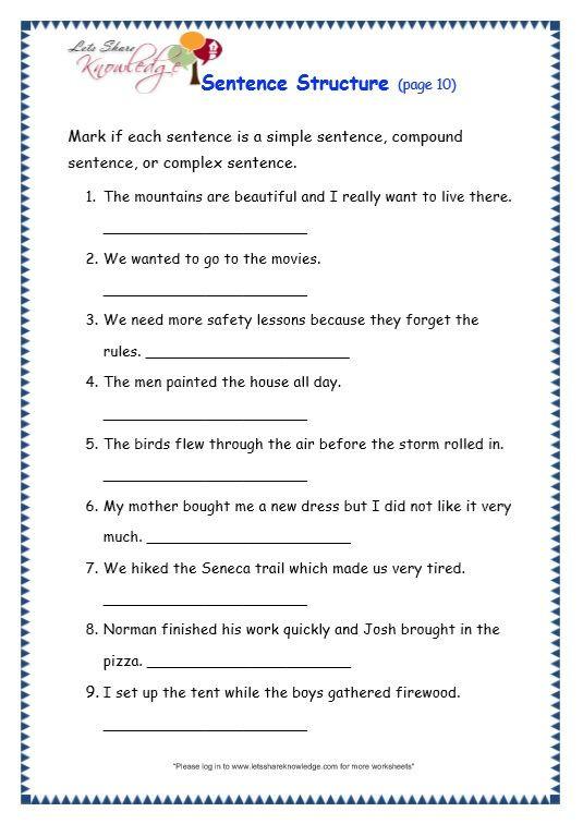 Simple Sentences Worksheet 3rd Grade Writing Sentences Worksheets for 3rd Grade