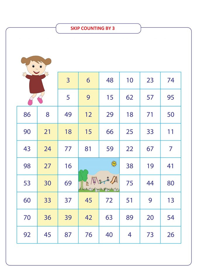Skip Counting Worksheets 2nd Grade Skip Counting by 3 for 2nd Grade 3 Free Math Worksheets