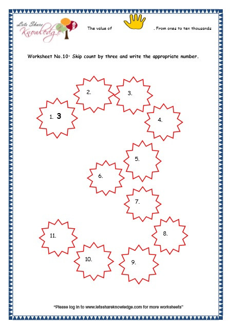 Skip Counting Worksheets 3rd Grade Grade 3 Maths Worksheets 5 Digit Numbers 2 9 Skip Counting