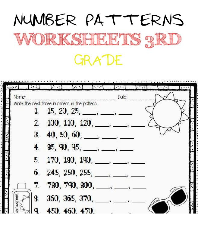 Skip Counting Worksheets 3rd Grade Number Patterns Worksheets 3rd Grade Skip Counting Freebie