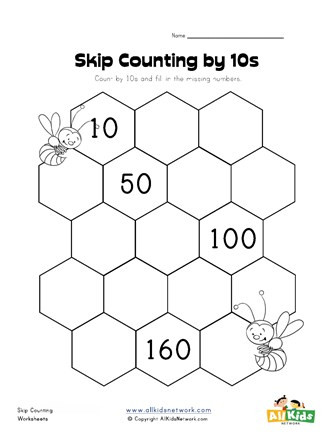 Skip Counting Worksheets 3rd Grade Skip Counting by Tens Worksheet