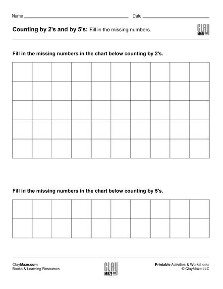 Skip Counting Worksheets First Grade First Grade – Page 3 – Childrens Educational Workbooks