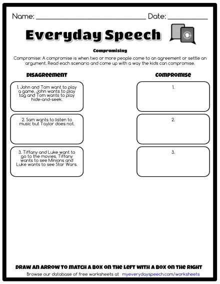 Social Skills Worksheets for Kindergarten Worksheets