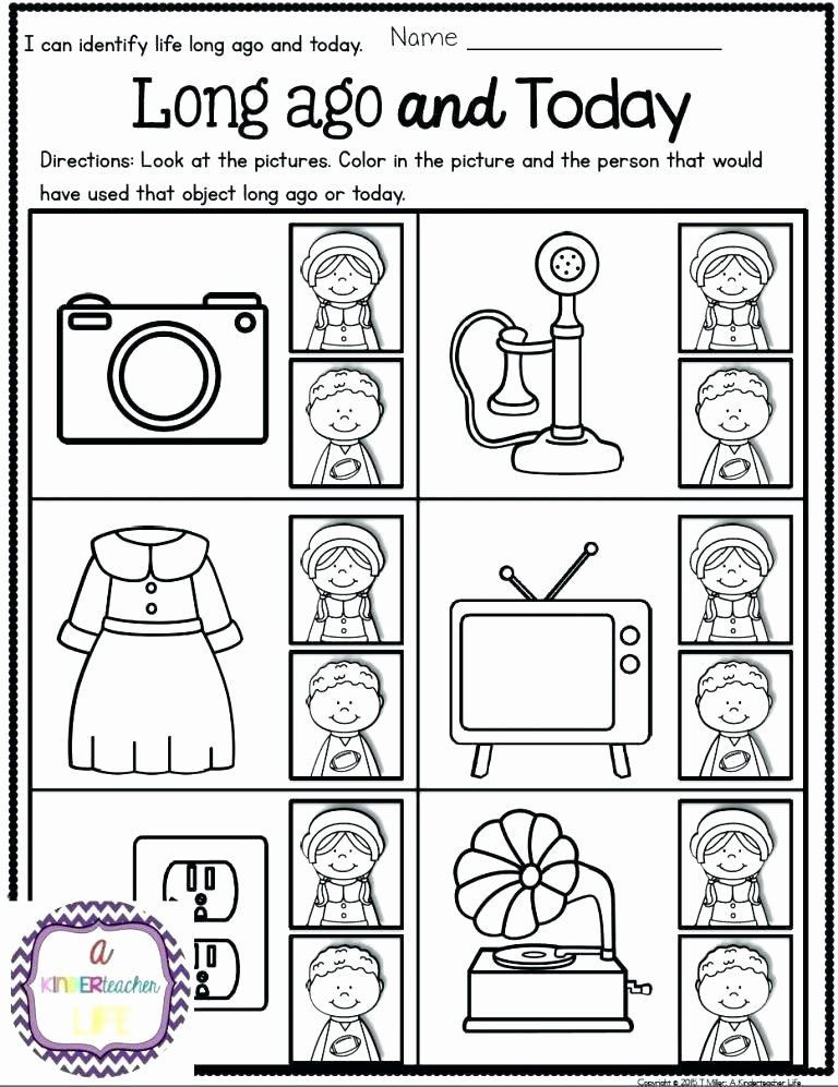 Social Studies Worksheets for Kindergarten √ 20 Kindergarten History Worksheets