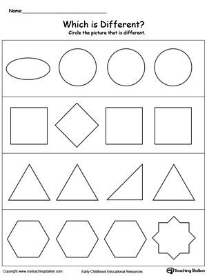 Sorting Shapes Worksheets First Grade Early Childhood sorting and Categorizing Worksheets