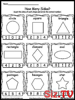 Sorting Shapes Worksheets for Kindergarten Identifying and Counting Shape Sides Free Identify Child